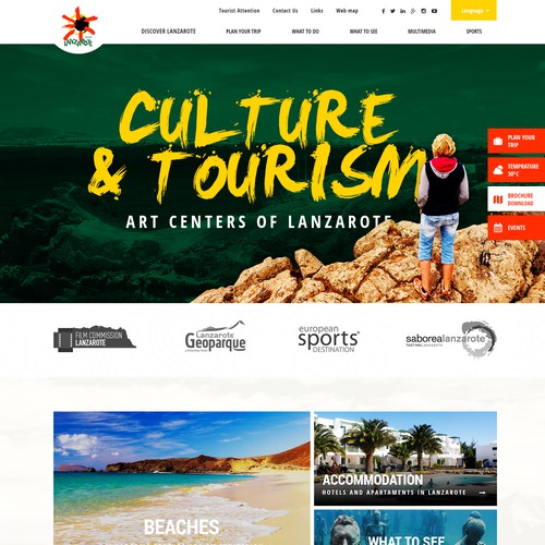 Official website for Turismo Lanzarote Island