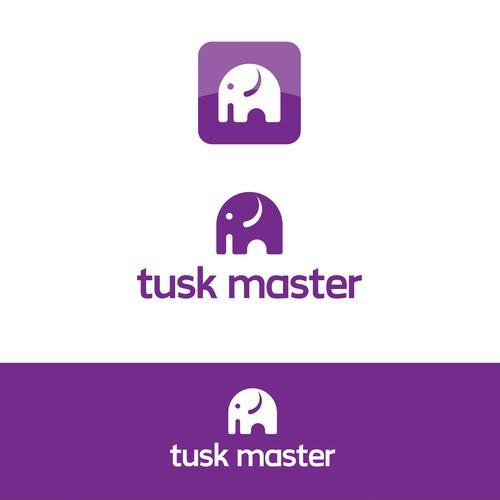 Elephant-Themed Mobile App Logo Design
