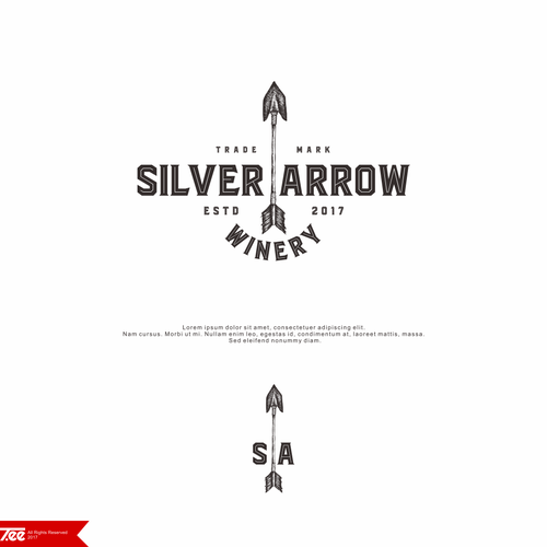Logo Design for Silver Arrow Winery