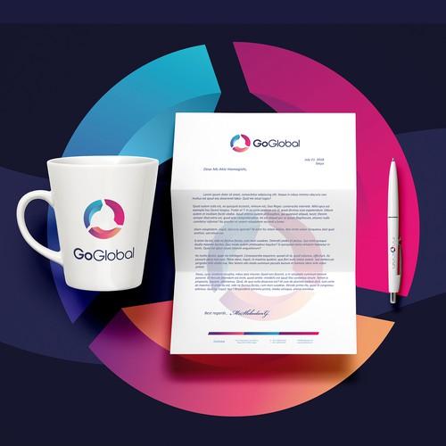 GoGlobal - Logo & Stationery Design