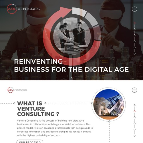 Modern and tech Webdesign for ADL Ventures