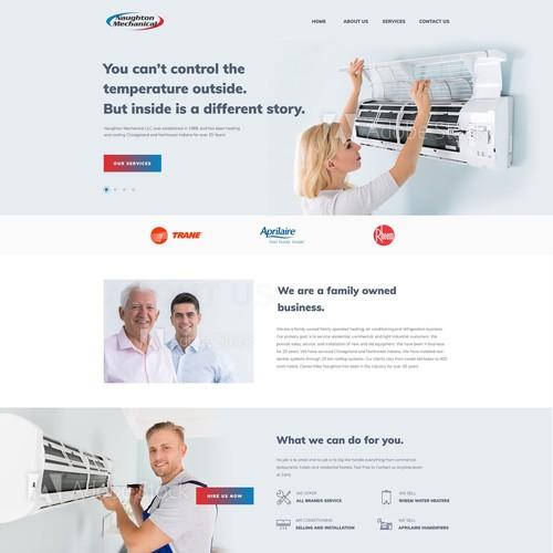 Webdesign concept for Naughton Mechanical LLC