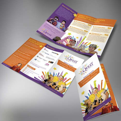Quest Theatre Tri-fold brochure