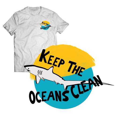 Keep the oceans clean- T shirt illustration