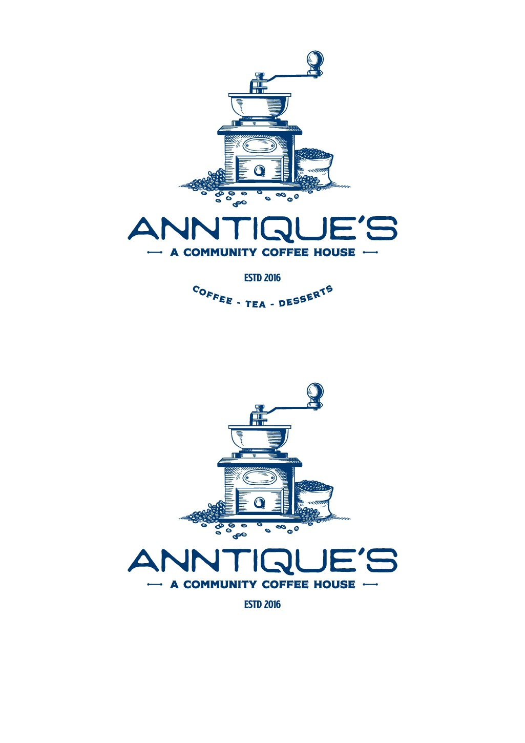 Help me present Anntique's coffee shop logo to the world!