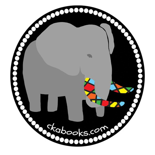Elephant sticker for a book launch