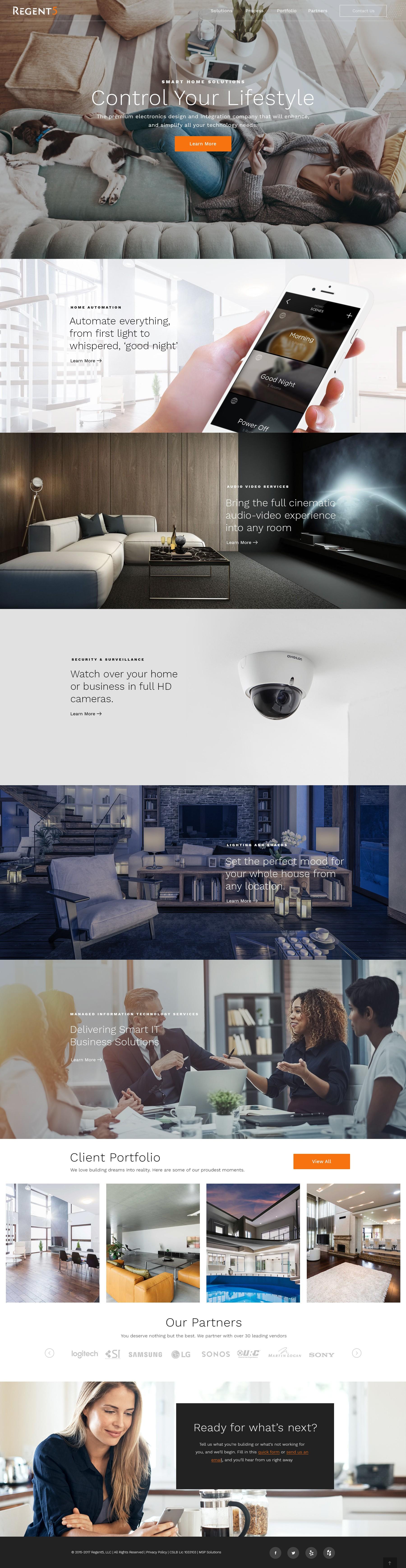 Regent5 - Website design