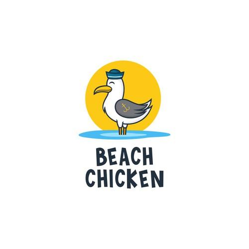 Beach Chicken Logo Design
