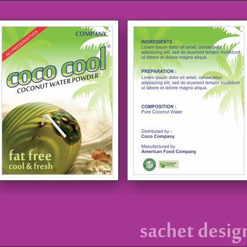 sachet design