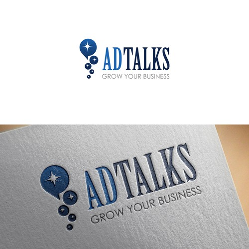 "Logo concept of ""Ad Talks"""