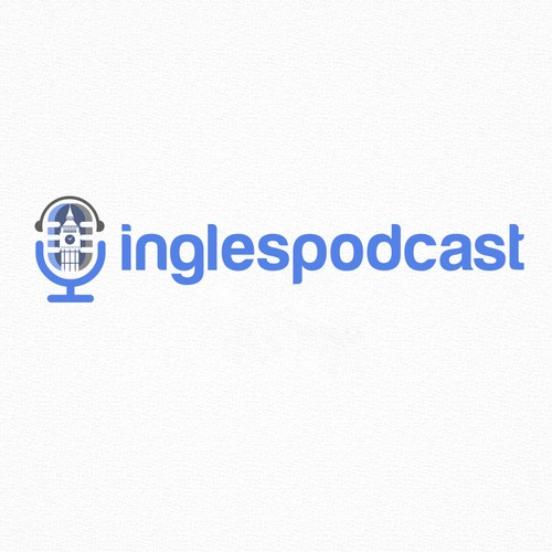 Design a logo for a podcast which teaches English to Spanish speakers