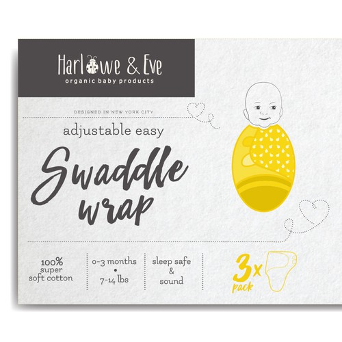 swaddle wrap packaging design