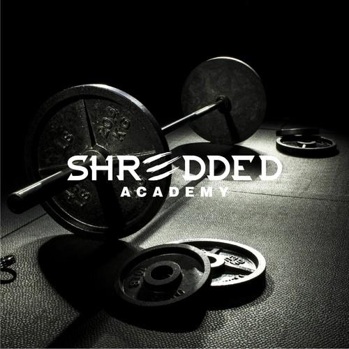 sophisticated logo type for SHREDDED ACADEMY