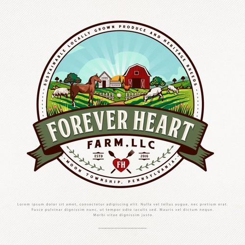 Logo Design for Forever Heart Farm