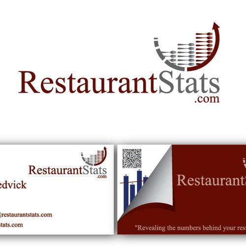 Create the next logo and business card for RestaurantStats.com