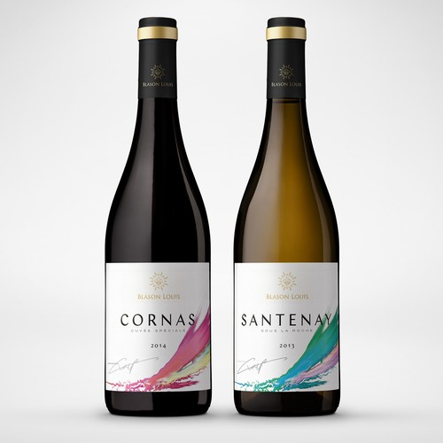 Elegant, minimalistic and modern wine label