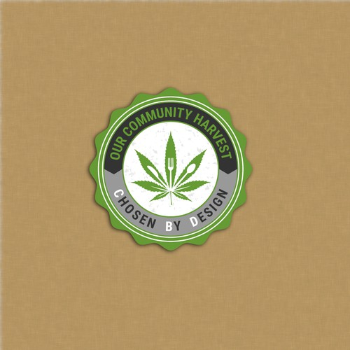 Design a hip and professional sticker design for cannabis company.