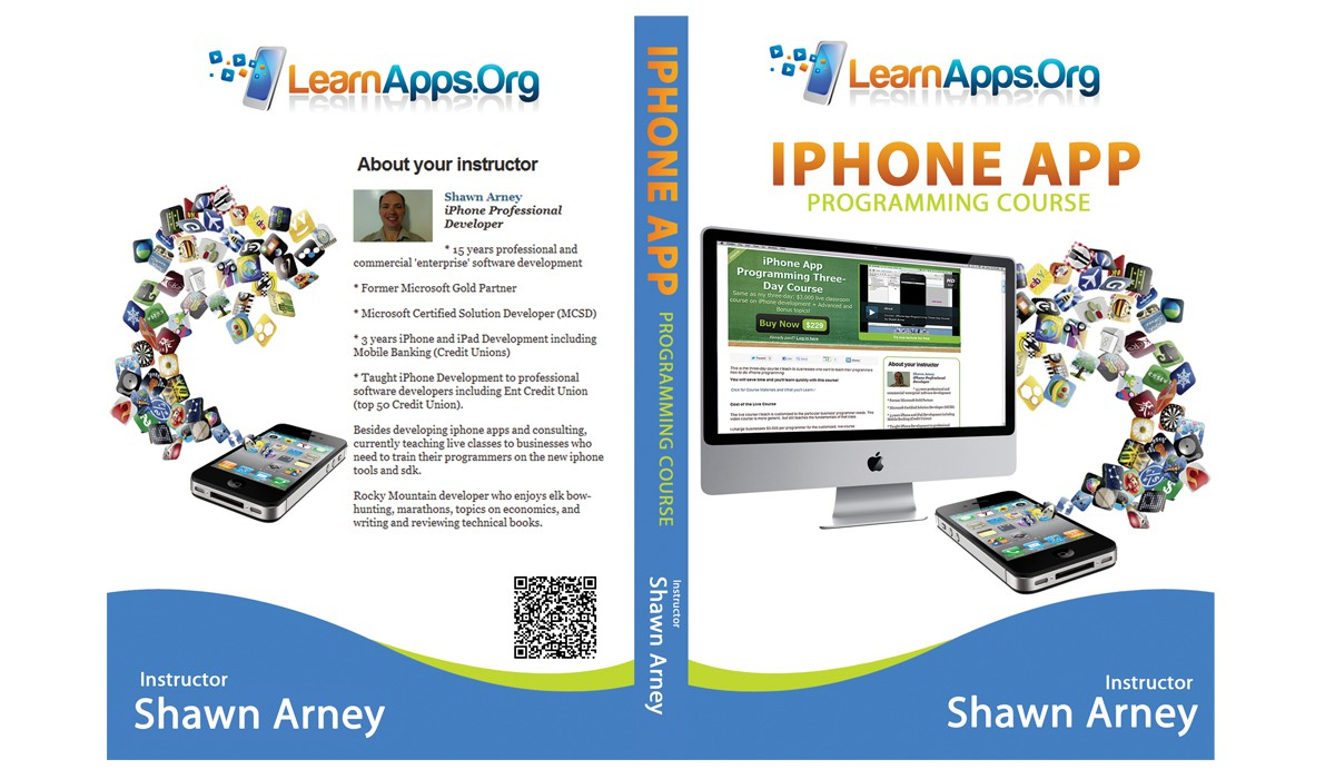 Packaging for DVD iPhone Course: LearnApps.Org