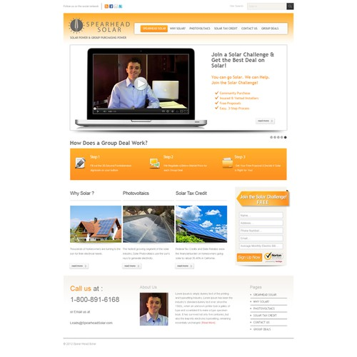 Spearhead Solar needs a Killer Website! GUARANTEED!