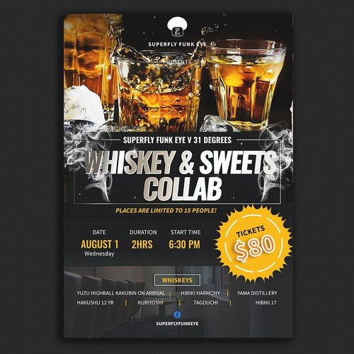 Poster for Japanese Whiskey & Sweets tasting Collab Event