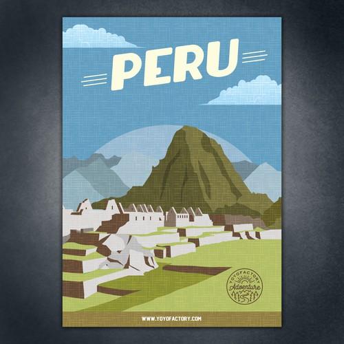 Retro poster for Peru