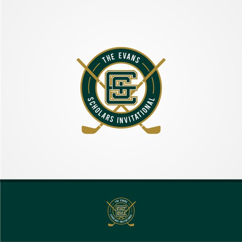 modern sport logo concept for The Evans Scholars Invitational