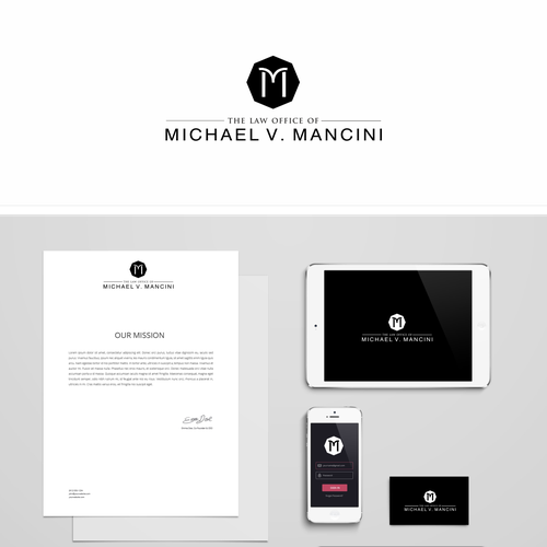 Help The Law Office of Michael V. Mancini with a new logo and business card