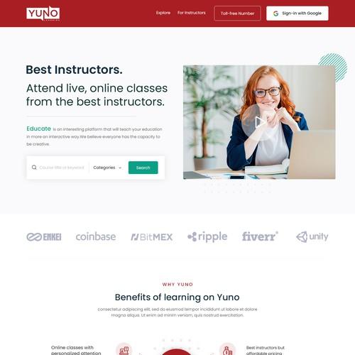 Website Design for Yuno
