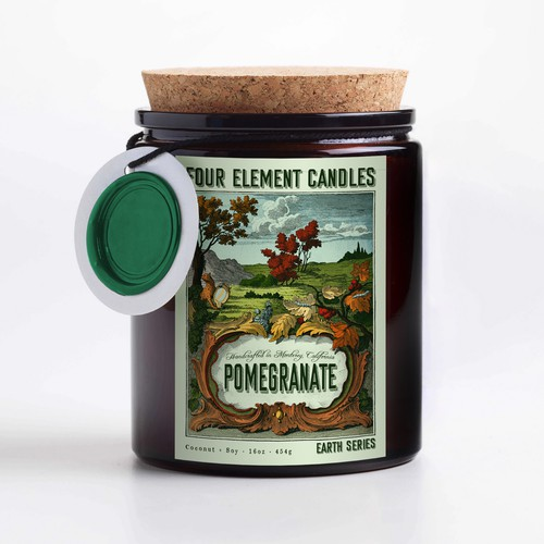 Four element candlel label design