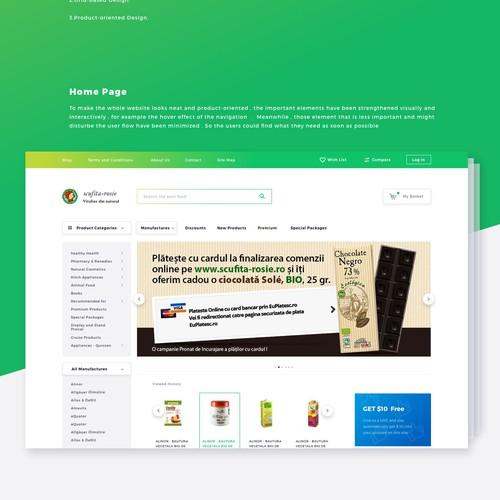 website design for online store
