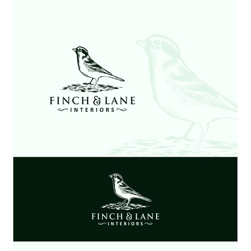 luxurious, classic, and bold design concept for home furnishing logo