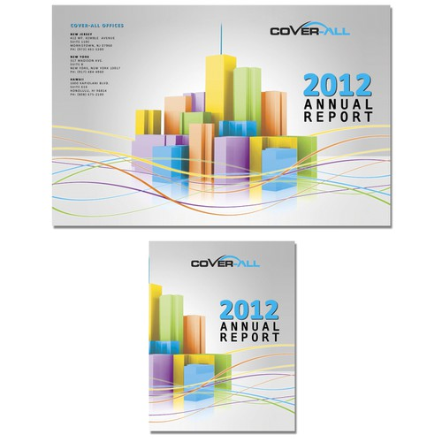 Folder design for annual report
