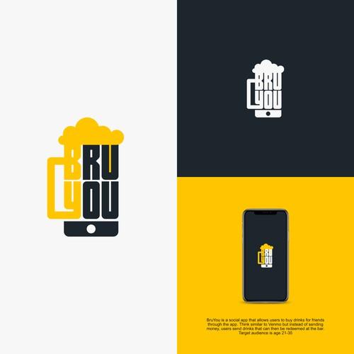 Design a logo for BruYou - The app to send & receive drinks