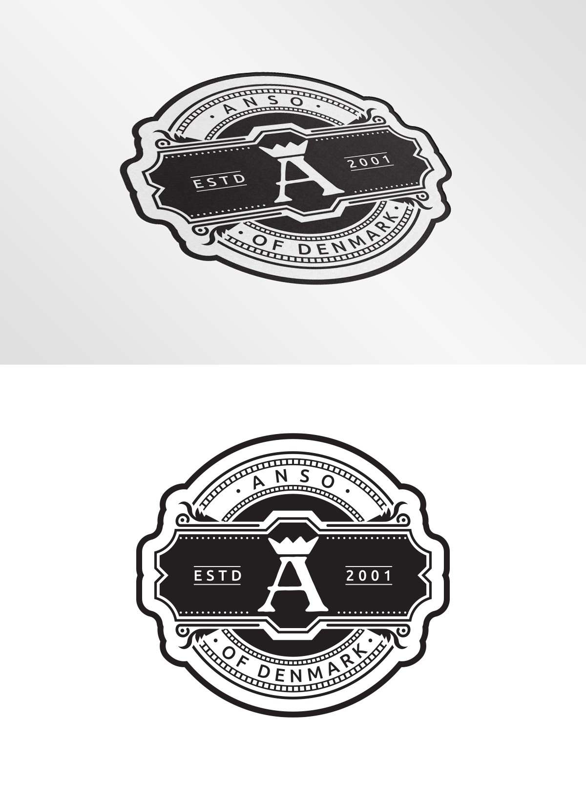 "Sticker design for High End Lifestyle brand - ""Anso of Denmark"""