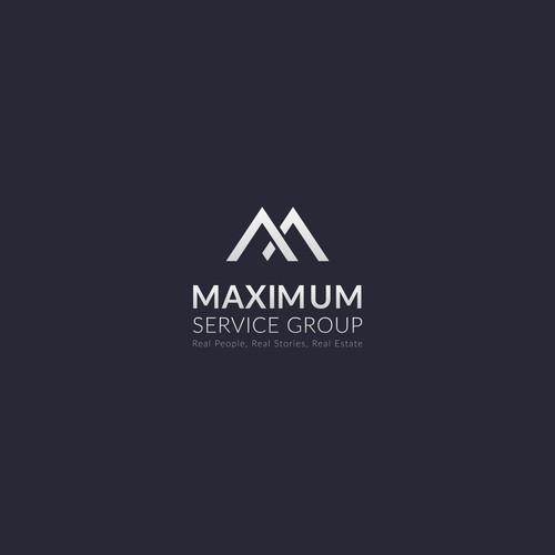 Modern Luxury Logo for Maximum Service Group