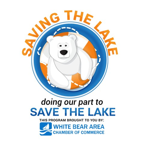 logo and business card for Saving The Lake