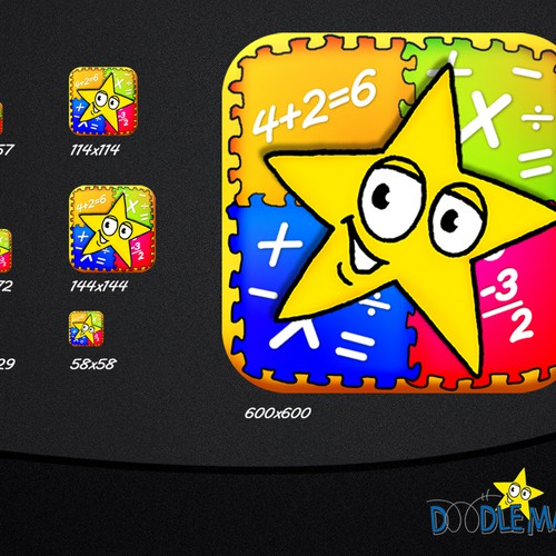 Create the App Store Icon for DoodleMaths