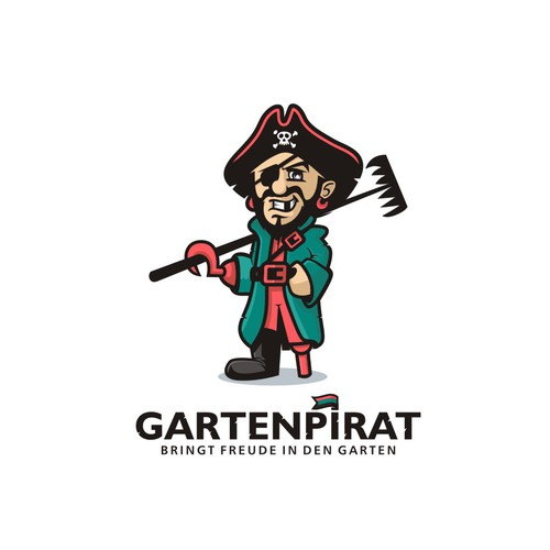 Logo concept for gardening accessory e-commerce company Gartenpirat