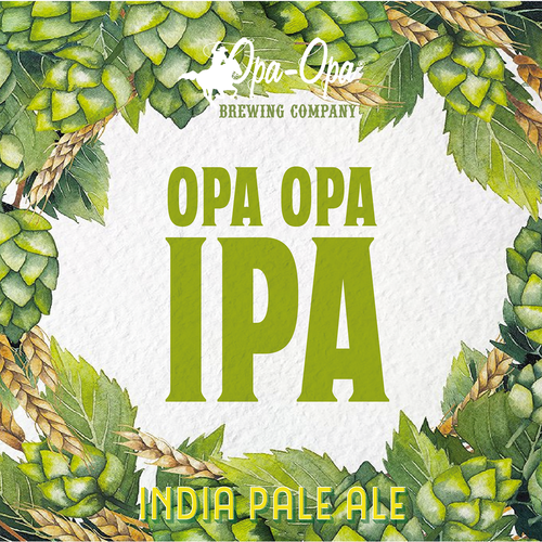 Beer label for Opa Opa Brewing Co.
