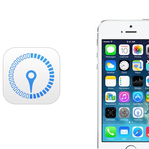 Create IOS 7 Icon for a Distance Calculation App