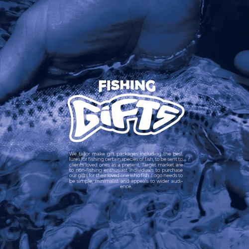 Clean Logo Design for Fishing Gifts