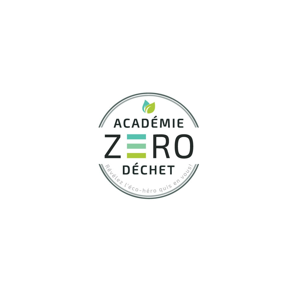 Create a logo for the first Zero Waste Academy that helps people to become a eco-Hero