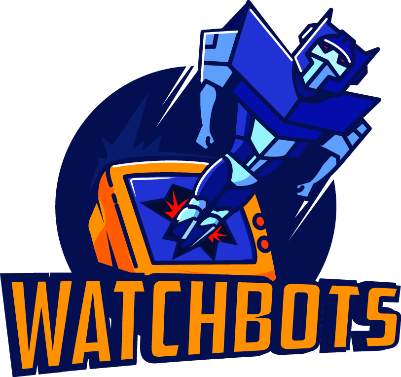 Watchbots, a new comedy podcast, needs a fun, bold logo