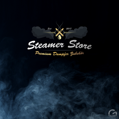 Smoky logo design for Steamer Store