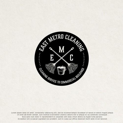 Vintage logo design for cleaning service co.