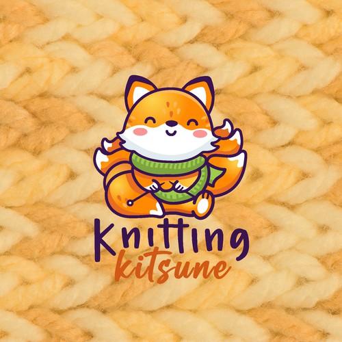 Knitting Kitsune