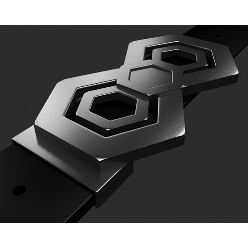 Carbon Nanotube inspired custom belt buckle design