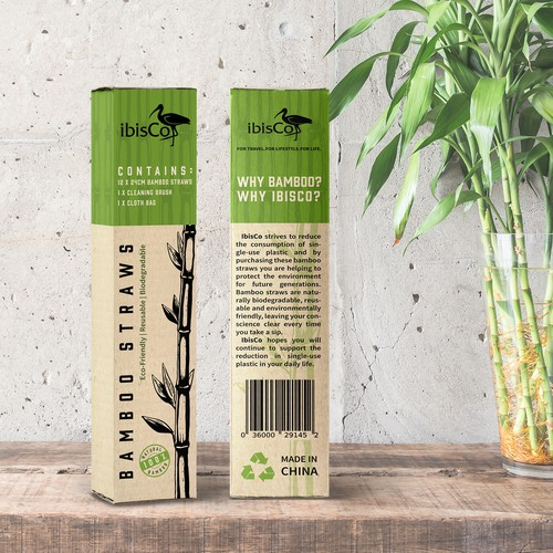 Bamboo Straws Packaging