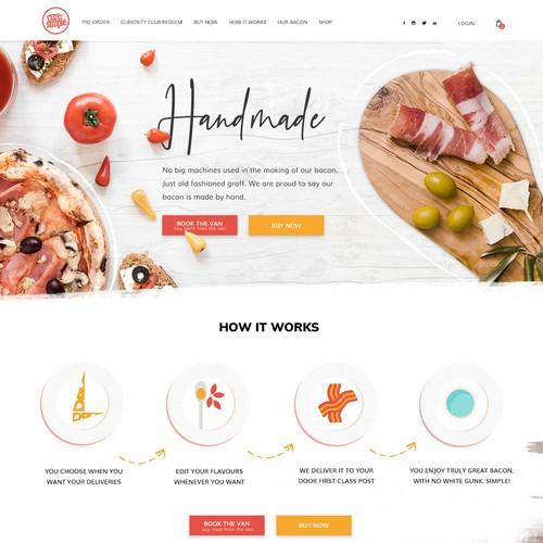website design for Meat Delivery Service