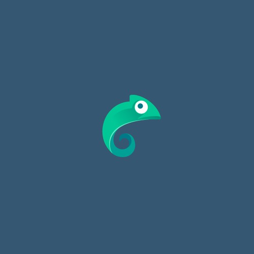 Simple Chameleon Logo